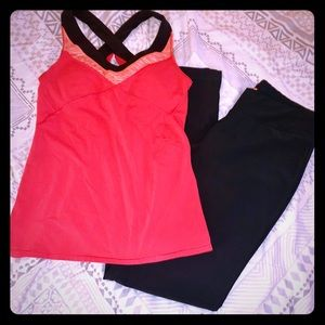 Lucy vital collection yoga outfit